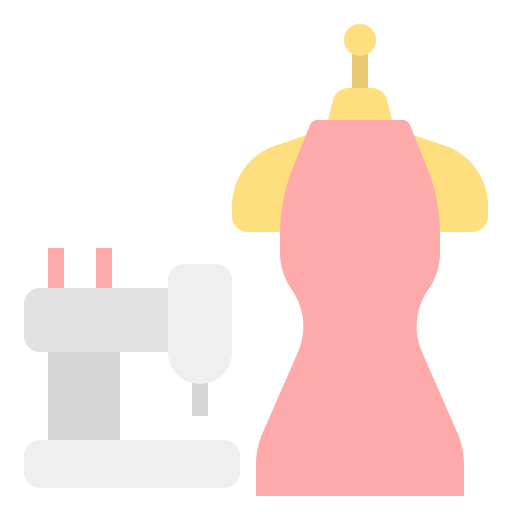 裁缝机与衣服
