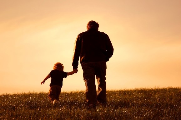 父女,散步