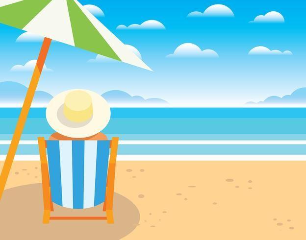 旅游,海边,晒太阳