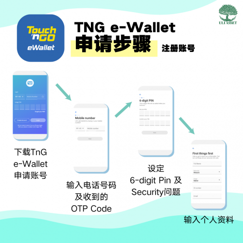 TNG e-wallet 申请步骤